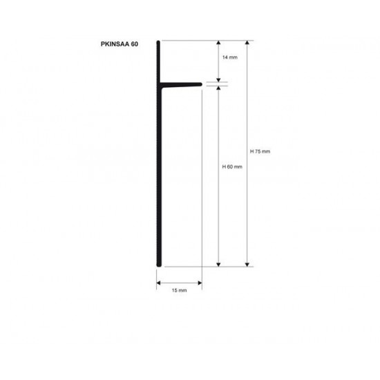 Aluminum skirting board INS
