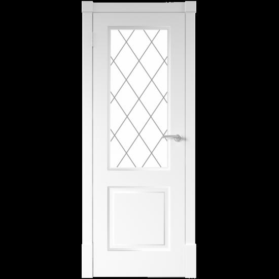 Interior door ALFINO White with glass