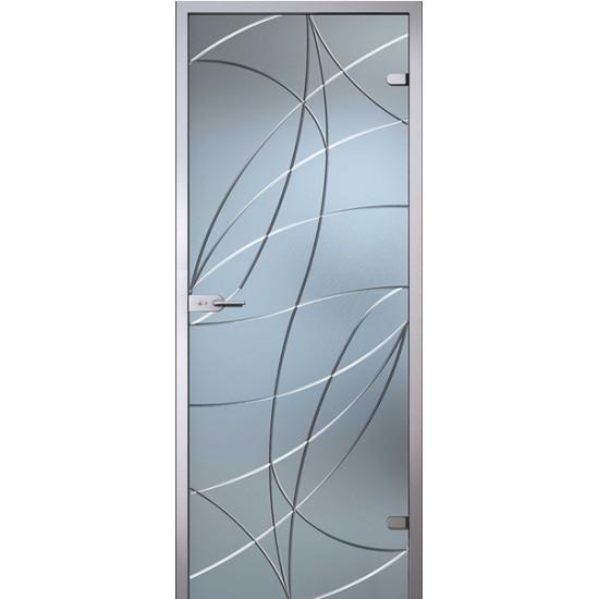 Stikla durvis AVRORA balta matēta