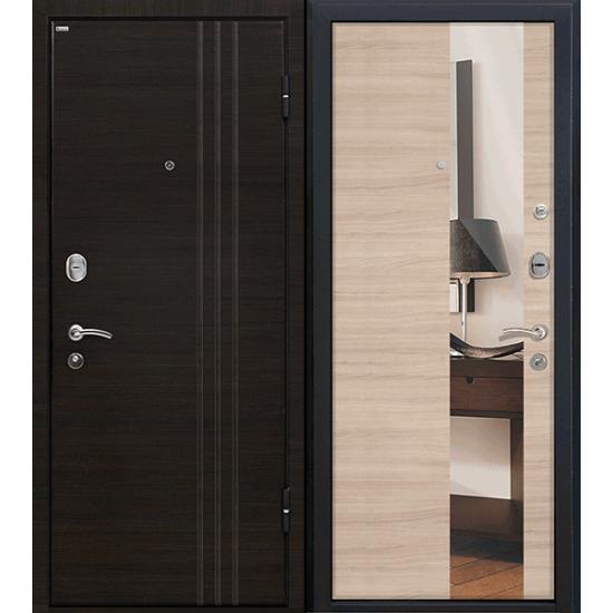 Metāla durvis ar spoguļi cappuccino LAT 15