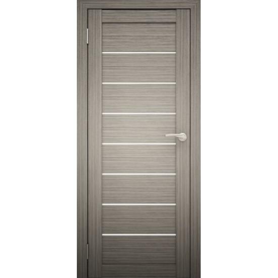 Межкомнатная дверь Amati 01 дым дуб (белое стекло)