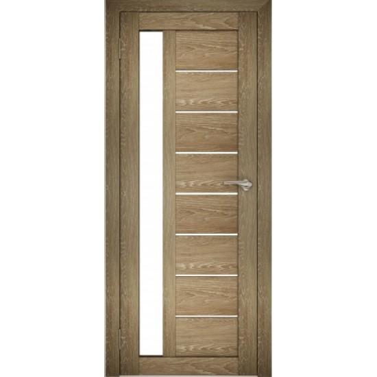 Межкомнатная дверь Amati 04 Дуб шале-натуральный (белое стекло)