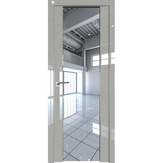 Glancētas iekšdurvis 8L Spogulis Tripleks